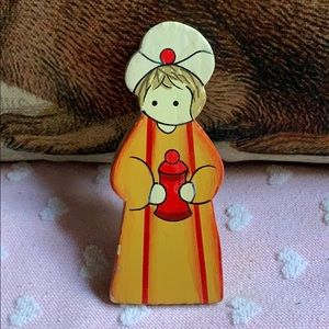 "4.5"" magi Nativity wiseman wiseman wooden decor"